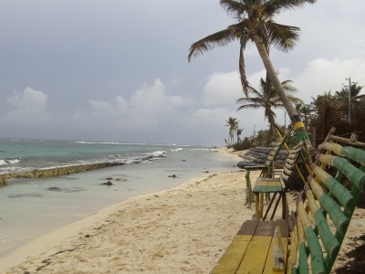 San Andrés, mar de aguas cristalinas.